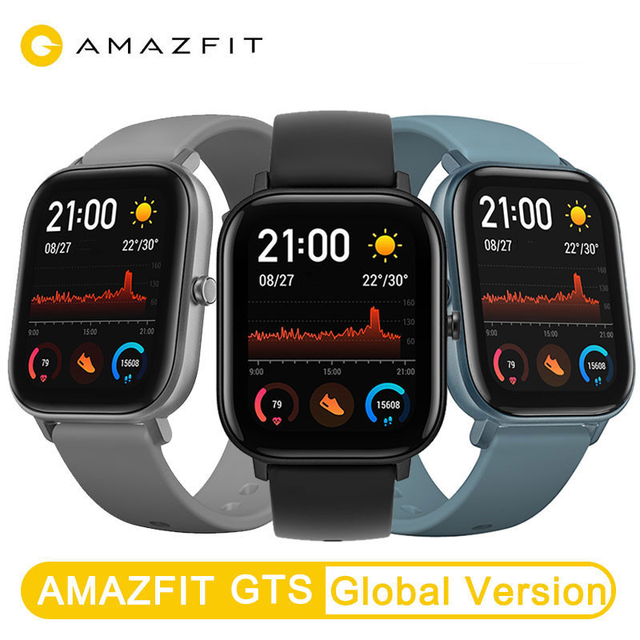 New Amazfit GTS Global Version Smart Watch Huami Outdoor GPS Positioning Running Heart Rate  5ATM Waterproof Smartwatch 6