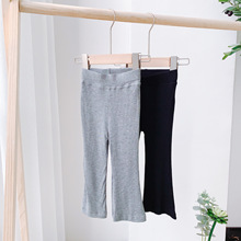 Flared Trousers Leggings Pants Bell-Bottomed-Pants Girls Spring Autumn Kids Cotton Casual
