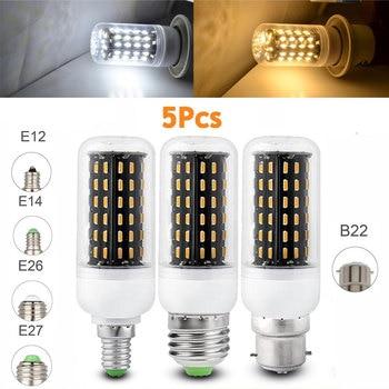 цена на 5Pcs/Lot Ultra Bright E27 E14 LED Corn Light Bulbs 12W 18W 25W 30W 35W B22 E26 Cool/ Warm White Lamp SMD 4014110V 220V