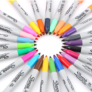 Image 3 - 1mm Quality Fine Tip Permanent American Sanford Markers Sharpie Fine Point Permanent Marker 12/24 Associated Colors Art Supplies
