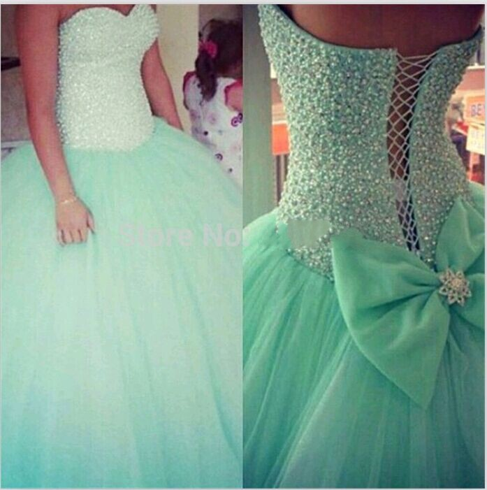Glamorous Ball Gown Pearls Sweetheart Mint Green Sleeveless Off The Shoulder Long Prom Gown 2018 Mother Of The Bride Dresses