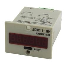 JDM11-6H 4 pin contact signal input digital electronic counter relay JDM11