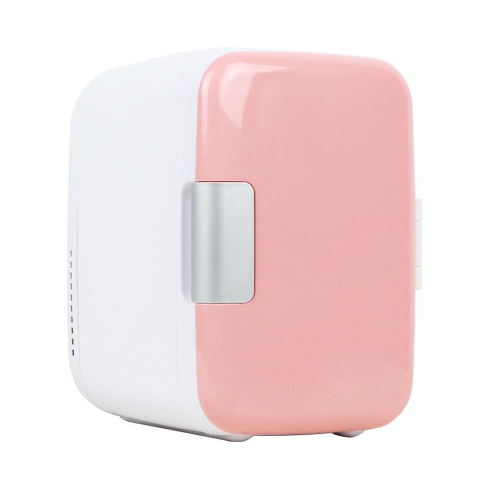 Home Refrigerators Freezer Cosmetic Fridge 4L 12V/220V Fridge Home Fridge Compact Refrigerator Electric Cooler