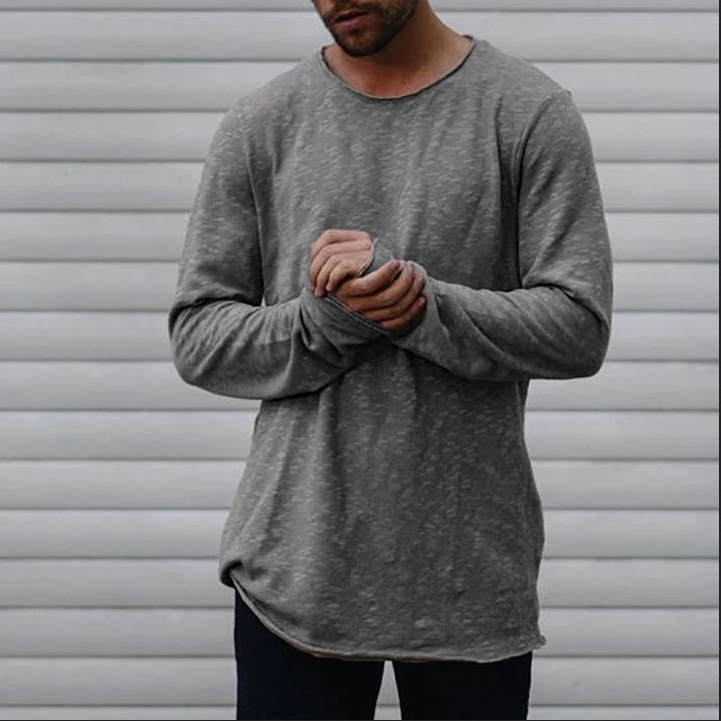 ZOGAA 2019 autumn winter hot new mens long-sleeved t-shirt solid color casual explosions T-shirt t shirt men M-3XL
