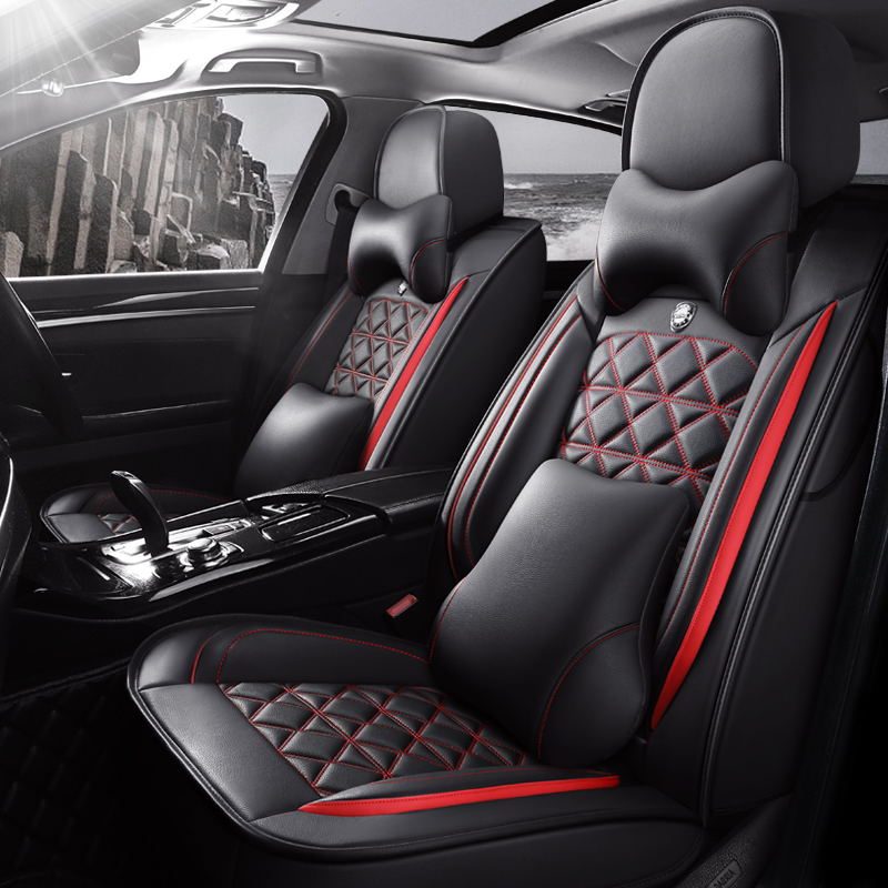 Universal Car Seat Cover Set Pu Leather Full Seat High Quality Car Interiors Fit for Most Cars for 4 Seasons