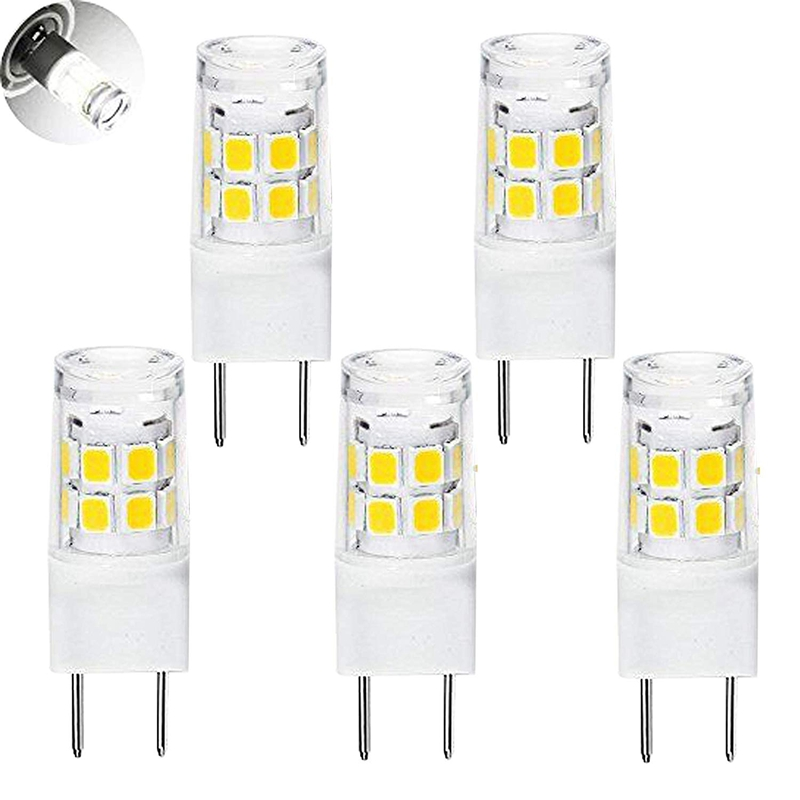 LED G8 Light Bulb, G8 GY8.6 Bi-pin Base LED, Not Dimmable T4 G8 Base Bi-pin Xenon JCD Type LED 120V (5-Pack) (G8 3W)