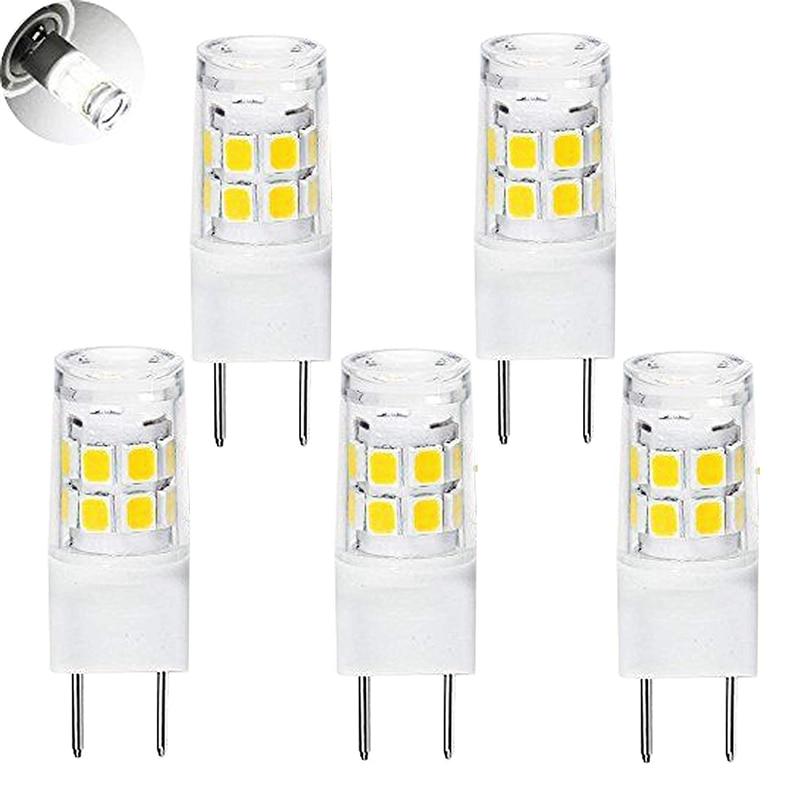 LED G8 Light Bulb, G8 GY8.6 Bi-pin Base LED, Not Dimmable T4 G8 Base Bi-pin Xenon JCD Type LED 120V (5-Pack) (G8 3W)