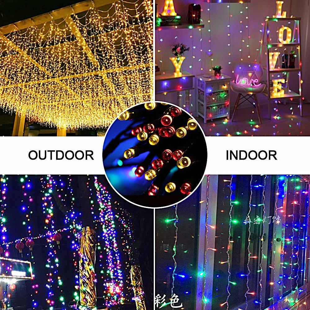 Waterproof Solar Garland String Light Outdoor Christmas Fairy Strip Home Street Lamp100 LED Solar Lights for Garden Decoration