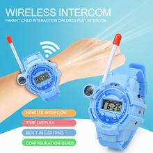 Moda duża odległość otrzymać telefon zwrotny od interaktywne zabawki dla dzieci 2 sztuk zegarek Walkie Talkie zabawki dla rodziców i dzieci bezprzewodowy dialogu otrzymać telefon zwrotny od Two Way Radio tanie tanio CN (pochodzenie) 25-36m 4-6y 7-12y Z tworzywa sztucznego Walkie Talkies Intercom NONE Zabawki walkie talkie Unisex