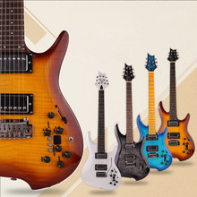 Good quality silent electric guitar built in effect portable travel free shipping