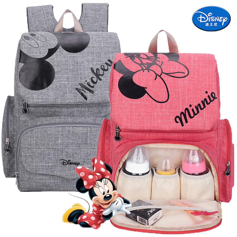 Disney Mummy Diaper Bag Maternity Nappy Nursing Bag For Baby Care Travel Backpack Designer Disney Mickey Minnie Bags Mommy Bag