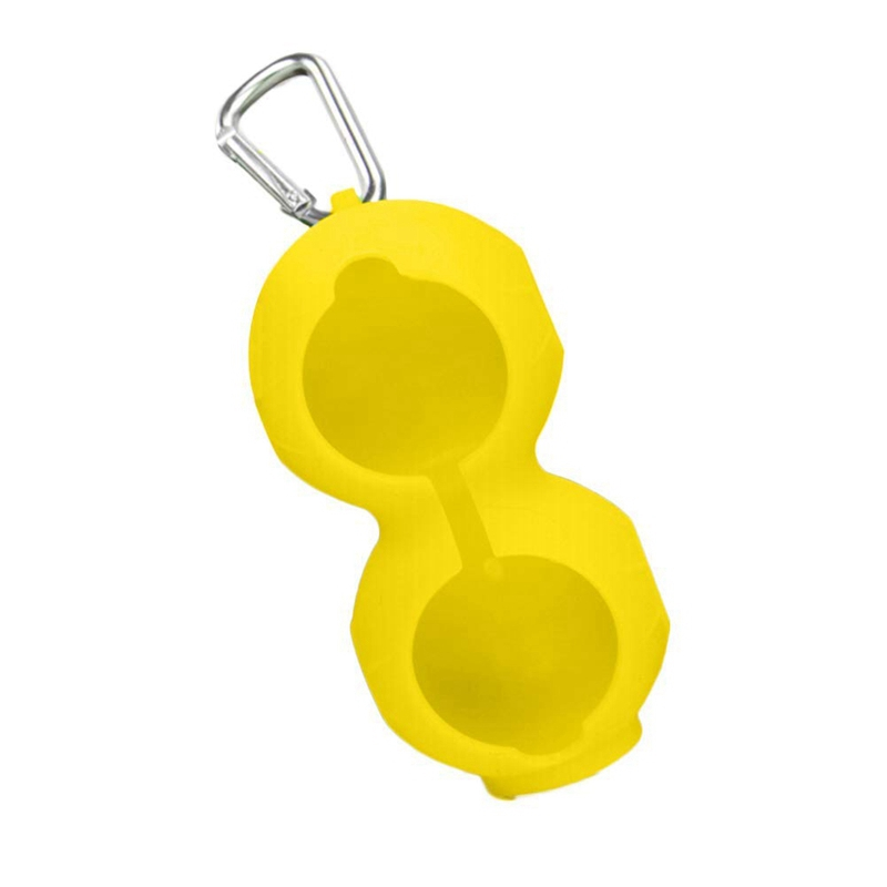 Golf Ball Cover Silicone 8-Shape Sleeve Protective Keyring Sport Accessories Golf Silicone Case Can Be Hung On The Belt(Yellow)