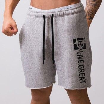 Men New Cotton Shorts Men's loose Short Trousers Fitness Bodybuilding Jogger Mens Brand durable Sweatpants Fitness Workout Short 10
