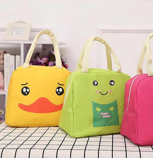 Cartoon large thickening insulation bag ice pack outdoor portable lunch bag insulation canvas lunch box bag