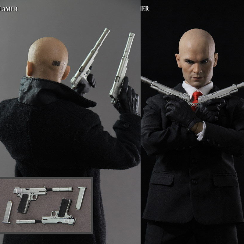 In stock <font><b>1/6</b></font> Scale full set dreamer Hitman 47 12