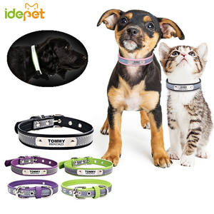 Cat-Collar Puppy Name Customized Reflective Chihuahua Phone Number for 15