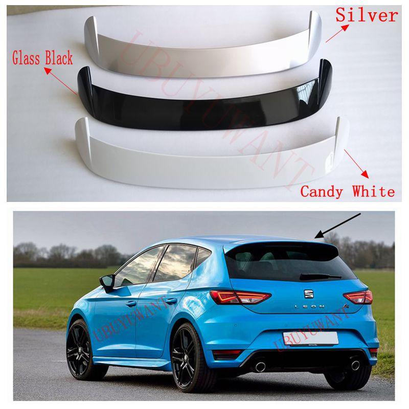 مقعد ليون 2016-2019 من ubuyuwanna مصنوع من مادة ABS عالية الجودة سبويلر ألوان أساسية لتزيين جناح خلفي للسيارة