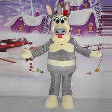 Madagascar Zebra Mascot Costume High quality adult size