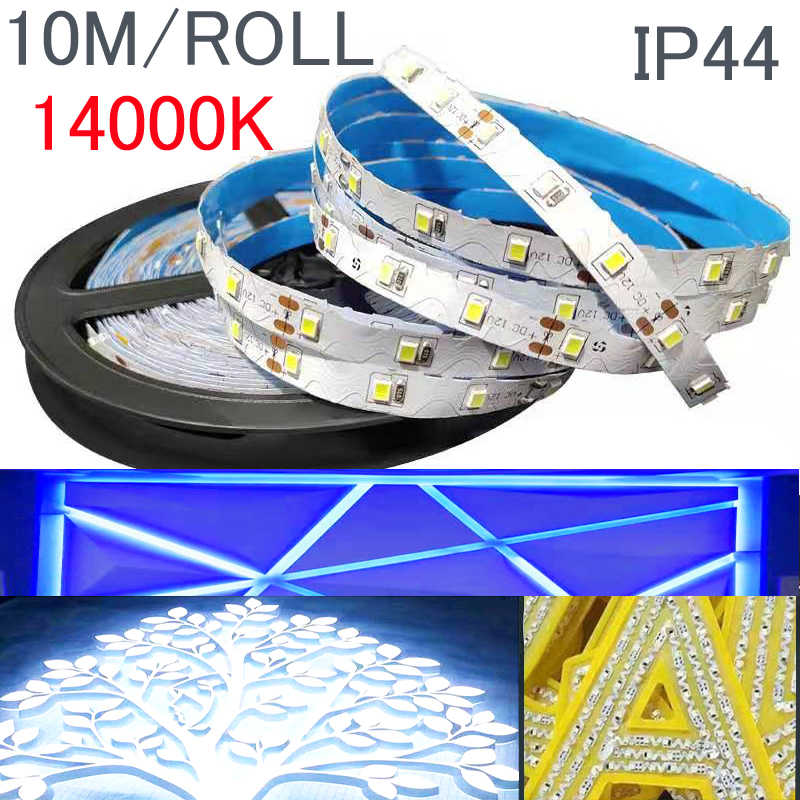 Waterproof S 2835 smd rgb led strip 12v 10M 5m 3M 2M warm white tape adpter addressable ribbon led light replace 5050 5630 120