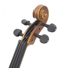 4pcs/lot 3/4 & 4/4 Ebony Violin Tuning Pegs Inlay Shell with Open Hole Stringed Instruments Violin Accessories 2 pcs violin pegs hole reamer violin pegs tools violin making tools