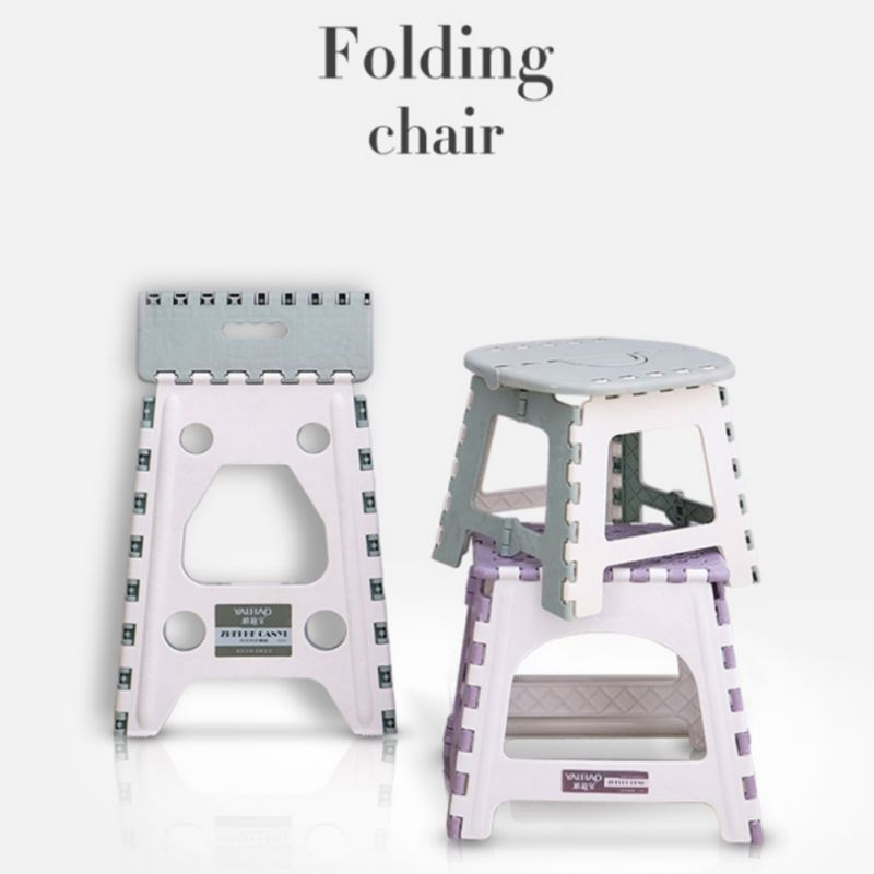 1PC Plastic Folding Step Stool Multi Purpose Home Train Outdoor Storage Foldable Outdoor Storage Kids Holding Stool Camping