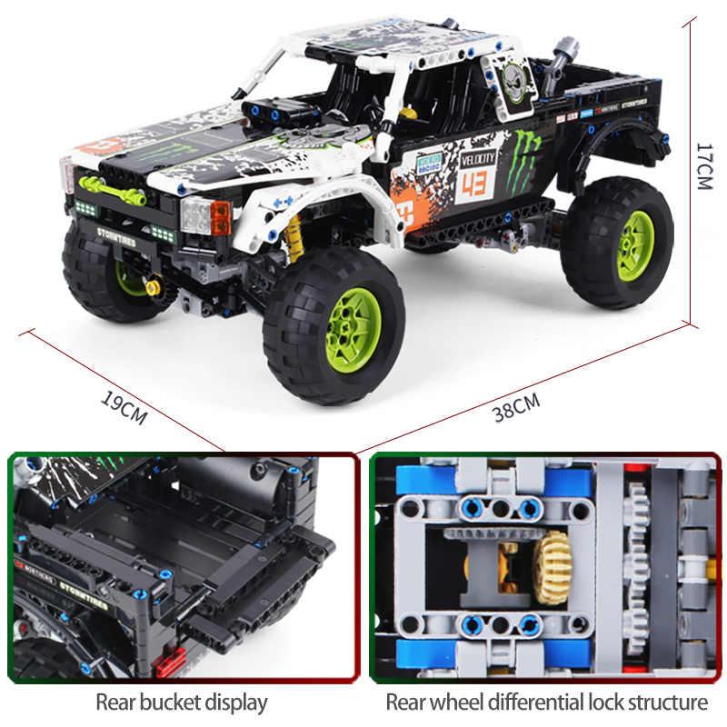 1090Pcs Technic Città Off Road Modello di Veicolo di Costruzione Blocchi SUV RC/non-RC Auto Da Corsa del Camion di Mattoni per i Giocattoli Ragazzi