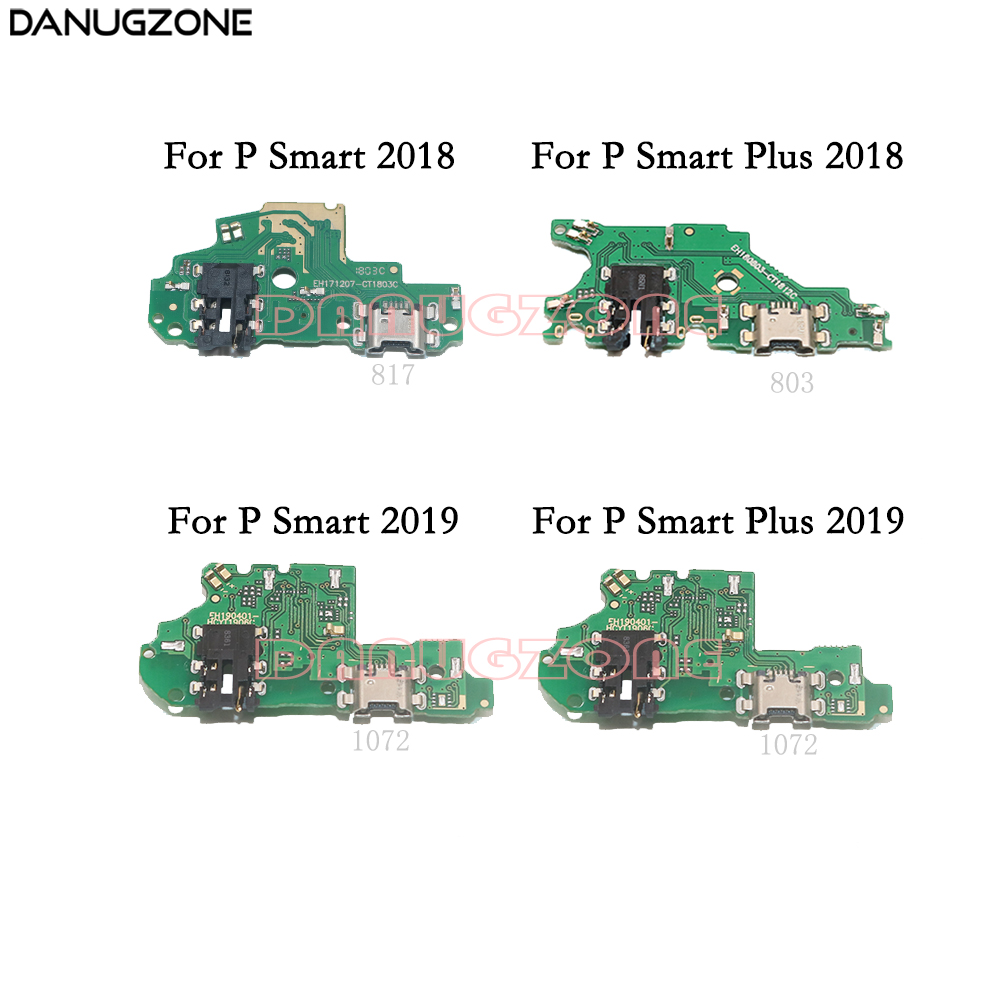 USB Charging Dock Port Socket Jack Plug Connector Charge Board Flex Cable For Huawei P Smart Plus 2019 2018 / P Smart + 2019