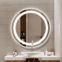 60cm in diameter Wall lamp LED vanity mirror dressing table Hollywood style LED light touch switch cosmetic lighting dressing