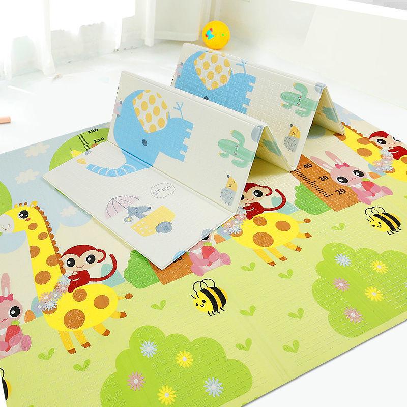 Engrossado 1.5cm esteira do jogo do bebê rastejando esteira dobrável dos desenhos animados do bebê playmat quebra-cabeça antiderrapante tapete jogo almofada de brinquedo para crianças