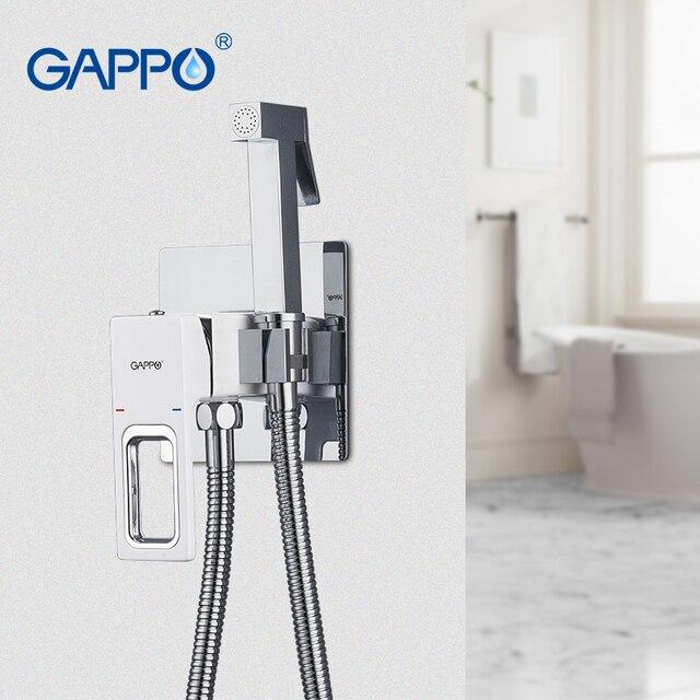 GAPPO Bidet robinets blanc douche hygiénique mélangeur toilette bidet musulman douche anal nettoyage cul bidet poche toilette pulvérisateur ensemble