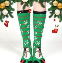 Рождественские носки с пальцами для мужчин и женщин зимние милые