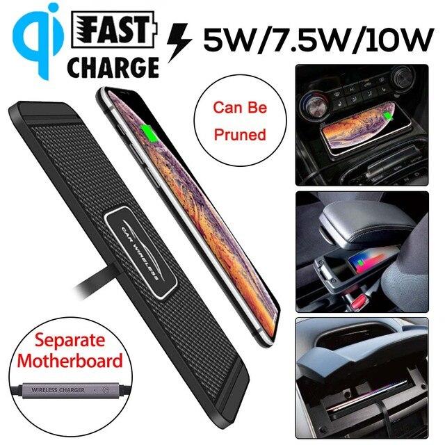 Qi Car Wireless Charger | Non-slip Mat Car Dashboard Holder