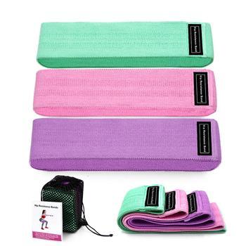 Taśmy oporowe do ćwiczeń zestaw 3 gum elastyczne gumy fitness sprzęt do ćwiczeń 3 sztuki tanie i dobre opinie baellerry Unisex CN (pochodzenie) Kompleksowe ćwiczenia Fitness Ciągnąć liny Resistance band S M L Lake Blue Pink Purple