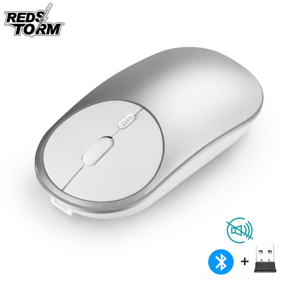 Gaming Mouse Bluetooth 2.4Ghz Wireless Dual Mode Mouse 1600DPI Ergonomic Portable Optical Silent Rechargeable Mice For Laptop PC