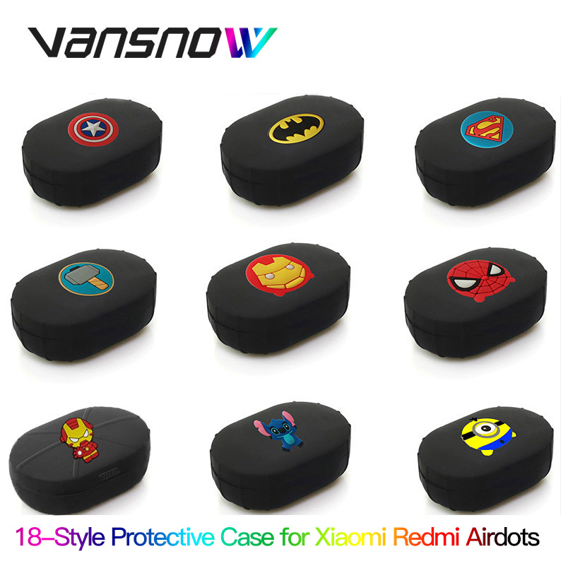 Vansnow Case For Xiaomi Redmi Airdots Case Global TWS Version Silicone Cover Earphone Case Cover For Redmi Airdots Earbuds