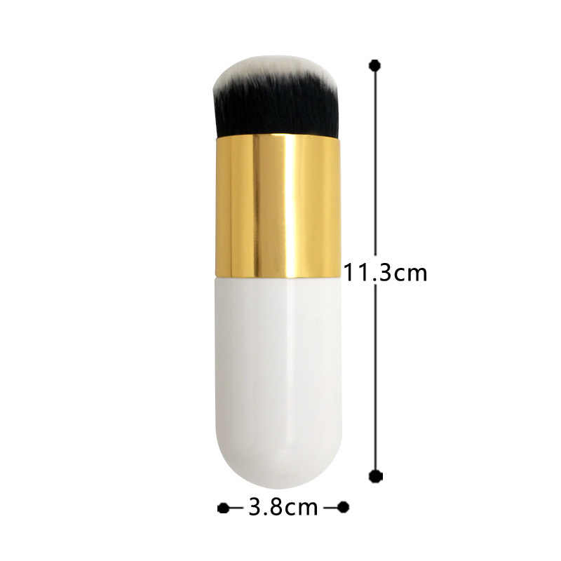Hot Sale Gemuk Pier Foundation Sikat Datar Cream Makeup Sikat Profesional Kosmetik Make Up Brush