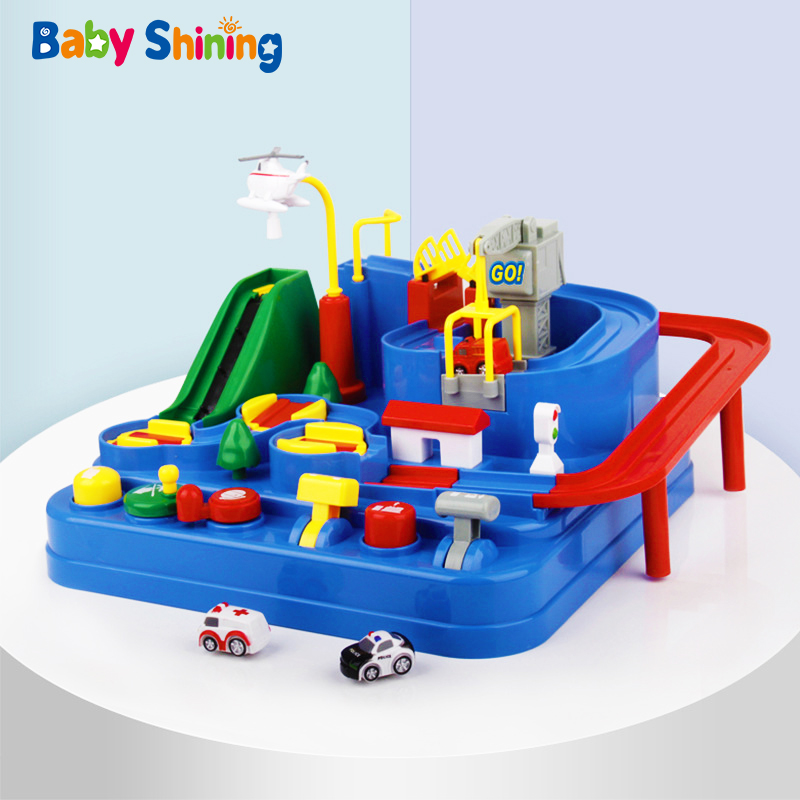 Baby Shining Educational Puzzle Children Railcar Toy Car Adventure Automobile League Big Rescue Game Boy Girl Birthaday Gift