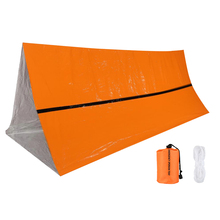 Emergency Camping Shelter Tent Waterproof  Folding Orange Tent Outdoor Camping Hiking Fishing Hunting Tent Camping Roof 2018 best selling camping outdoor leisure free building multi purpose fishing wild supplies off site tent bed