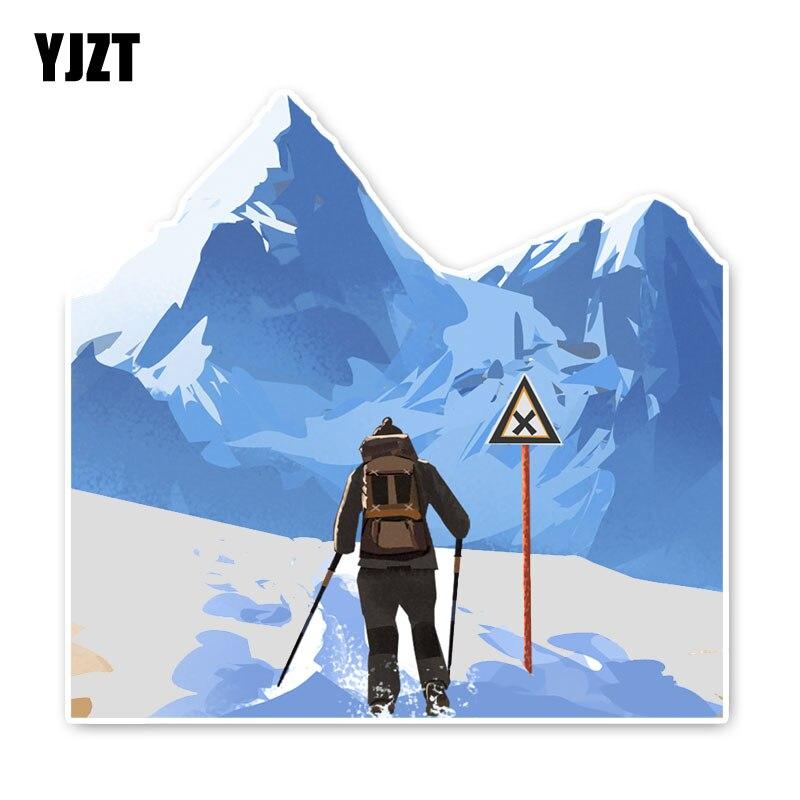 YJZT 12,5*13,1 см крутые снежные Горные Скалолазание горные Экстремальные спортивные аксессуары Автомобильные наклейки бампер C30-0015
