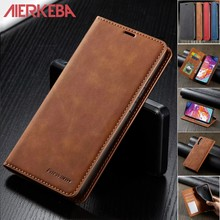 Leather Case for Samsung Galaxy A50 A70 S A10 A20E A30 A40 A50S A51 A71 A20E S20 Ultra S10 S9 S8 Plus Flip Magnetic Wallet cover(China)