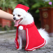 Chat chien Santa Hat cape Pet Cosplay Costume de noël chaton chiot rouge casquettes vêtements partie manteau habiller vêtements de noël vêtements(China)