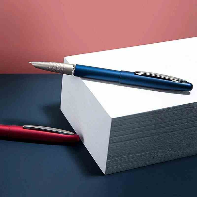 Hongdian 617 dolma kalem tam Metal antik mürekkep kalem EF uç dönüştürücü dolgu iş ofis okul malzemeleri yazma