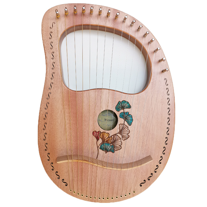 7/10/16 Stringed Wood Lier Harp Wooden Musical Instrument Mahony Solid Harp Instruments