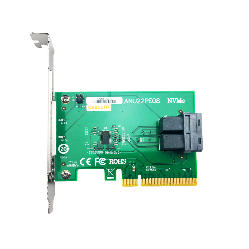 ANU22PE08 NVME U.2  SFF8643 To SFF8639 NVMe U.2 With Cable Dual Port NVMe Controller