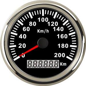 Image 3 - Uniwersalny 85mm prędkościomierz GPS 200 km/h 120 km/h prędkościomierz do samochodu wskaźnik dla ciężarówki łódź morska z podświetleniem 12V 24V dla BMW e39