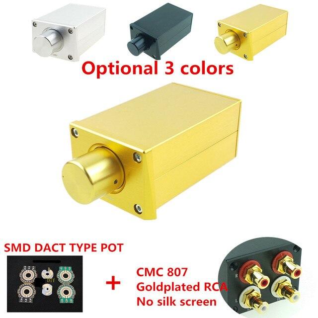 SMD Dact type 21 Stapte verzwakker volumeregeling Passieve Voorversterker voorversterker amp HIFI audio 10k 20k 50k 100k