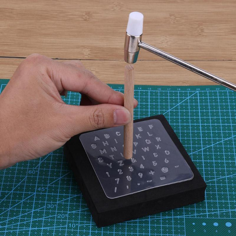 Transparent Leather Alphabet Stamp Set