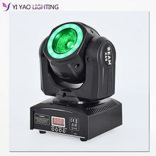 DJ lighting 60w beam light with halo RGBW-4in1 led moving head light for party bar stage led lighting cheap Hong Yi Stage Lighting Stage Lighting Effect DMX Stage Light Y-B60-2 90-240V Professional Stage DJ Light source 60W RGBW LED with 5050 SMD 3in1
