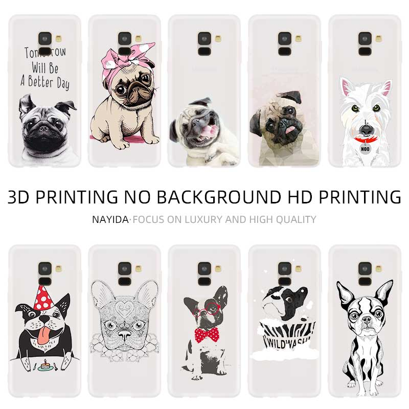 Phone <font><b>case</b></font> Soft For <font><b>Samsung</b></font> <font><b>Galaxy</b></font> A10 A20 E A30 A40 <font><b>A70</b></font> A50 A60 A80 A90 a10s a20s a30s a70s M40 Terrier dog pug pattern image