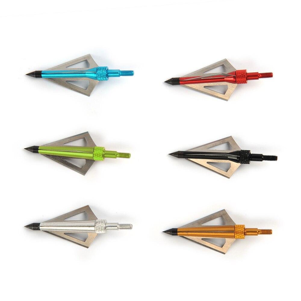 100 /125 de punta de flecha con caja cabezas anchas 3 cuchillas fijas punta de flecha de arquería punto compuesto o Ballesta de caza
